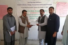 15.Participant recieving certificate-Chaman