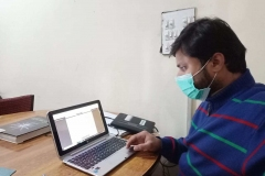 Participant is attending a BRM online training